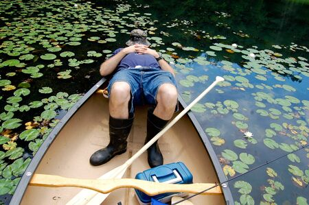 fishing tackle: Fishing is so relaxing you could fall asleep
