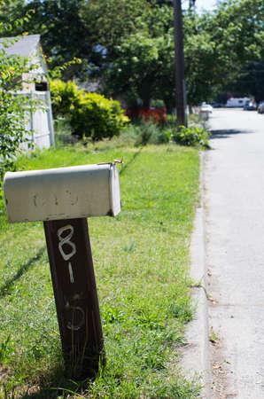 crooked: crooked mailbox Stock Photo