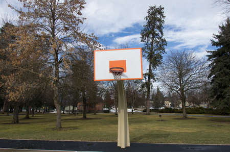 alene: Basket at a beautiful park Stock Photo