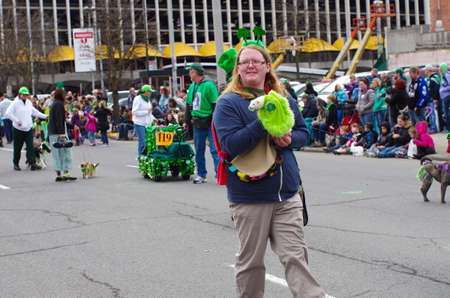 St  Patricks day parade in Spokane, Washington on 3-15-2014