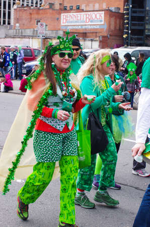 st patty day: St  Patricks day parade in Spokane, Washington on 3-15-2014