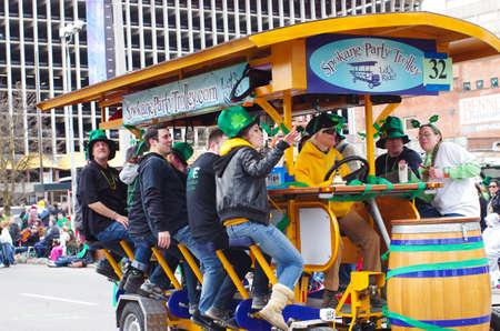 st  patty: St  patty s day parade in Spokane, Washington on 3-15-2014 Editorial