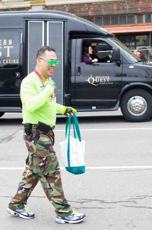 St  patty s day parade in Spokane, Washington on 3-15-2014