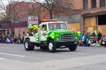 st  patty's: St  patty s day parade in Spokane, Washington on 3-15-2014 Editorial