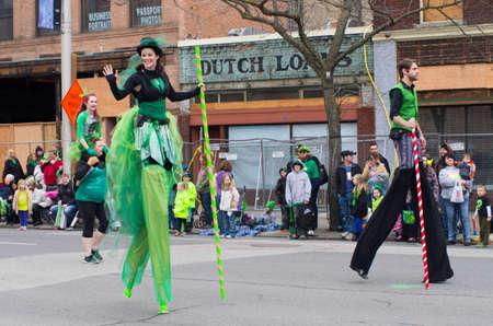 st patty day: St  patty s day parade in Spokane, Washington on 3-15-2014 Editorial