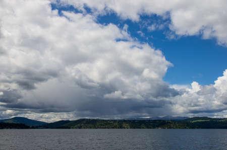 sprawling Coeur d  Alene lake landscape Stock Photo - 28140429