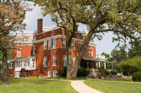 The historic Ellwood House in Dekalb, Illinois 版權商用圖片