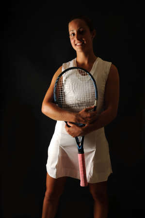 Portrait of a young tennis pro