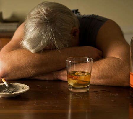 lovelorn: alcoholism Stock Photo