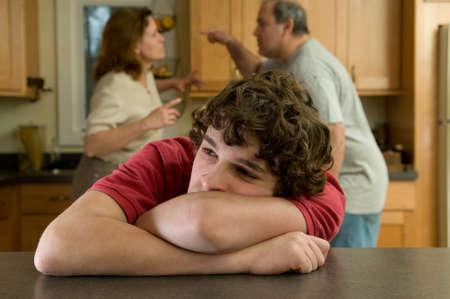 alcoholic man: family argument