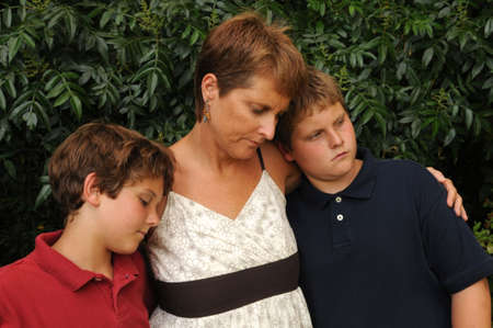 grieving family