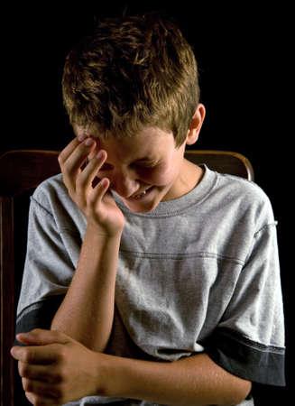 boy crying photo