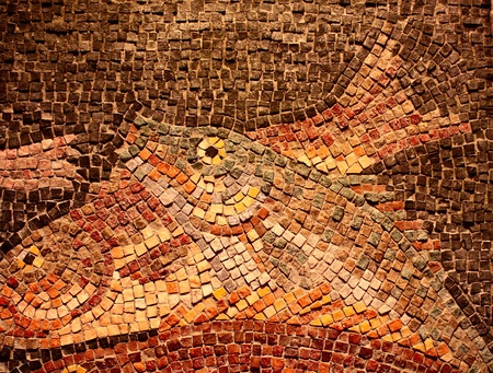 Mosaic Tile Fish 版權商用圖片