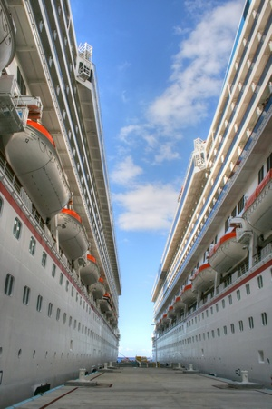 lifeboats: Cruise Ships Moored