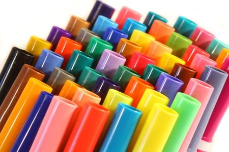 Stelletje Gekleurde Marker Pen Caps Stockfoto - 11808463