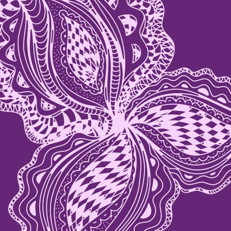 gaudi: Violet abstract floral element for decorative design