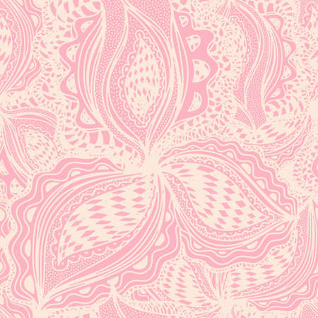 Wallpaper seamless pattern with abstract floral element for decorative design Illustration