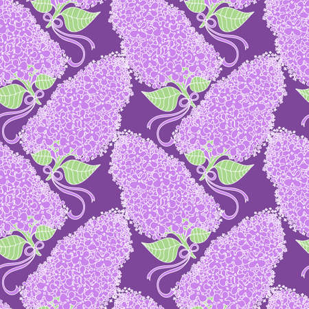 amazing wallpaper: Amazing branches of lilac flowers in violet colors. Good for wallpaper, textile, background, design of wedding invitation, poster, cover of book, post cards. Spring and summer theme of illustration