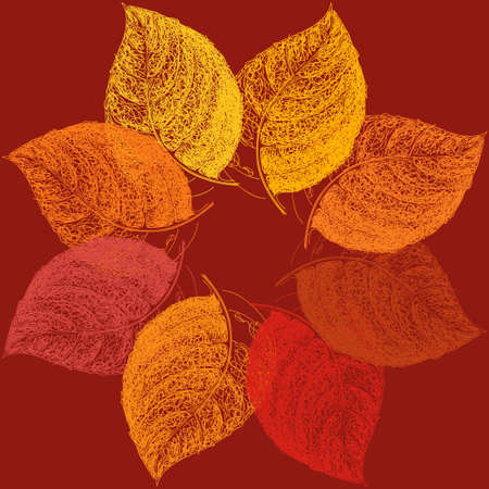 place for your text: Autumn abstract floral leaf background with place for your text.
