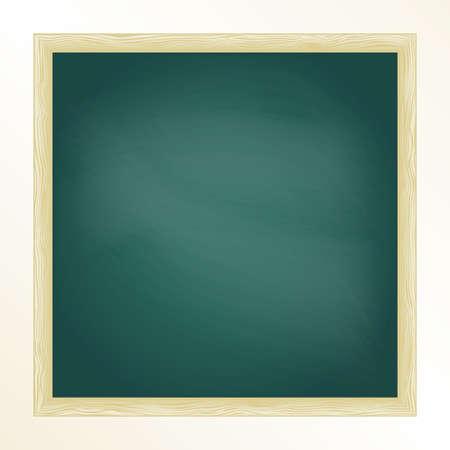 green chalkboard: Green chalkboard with frame. Design template.