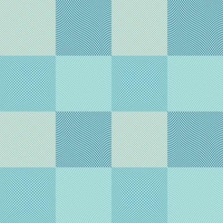 Chess board squares distortion vector seamless pattern