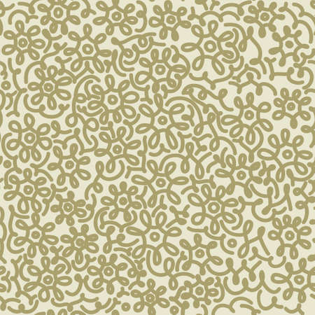kamille: Light floral chamomile retro vintage seamless pattern. Template for wallpapers, textile, design