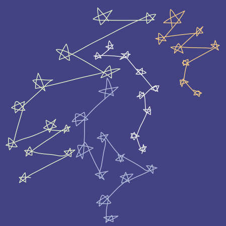 stylize: Stars constellations stylize drawing background vector illustration