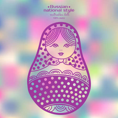 matrioshka: Vector illustration of abstract Russian traditional matryoshka dolls. Used for souvenirs, greeting cards, posters, print for t-shirts and bags. Illustration