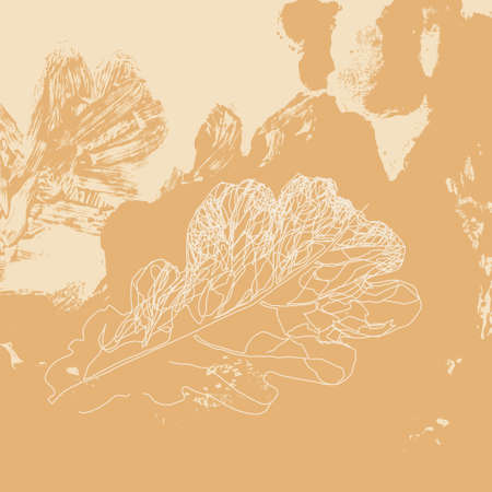 oak leaf: Autumn defoliation in the nature. Foliage of oak leaf. Background design template