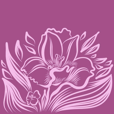 jonquil: Narcissus spring flower tattoo drawing. Vector hand drawn illustration.