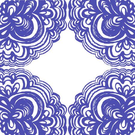 Azulejos Marroquíes Adornos En Colores Azul Y Blanco. Patrón De ...