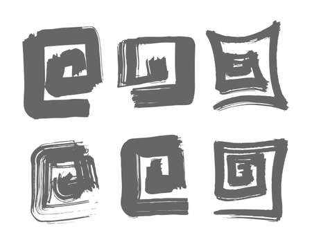 Labyrinth hand drawn illustration. Logo and design template Illustration