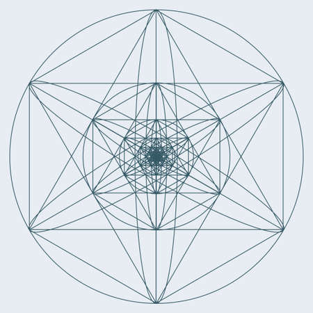 spiritual: Sacred geometry symbol or element. Alchemy, religion, philosophy, astrology and spirituality themes
