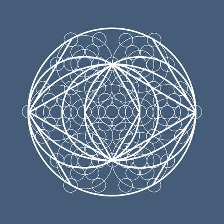 universal enlightenment: Sacred geometry symbol or element. Alchemy, religion, philosophy, astrology and spirituality themes