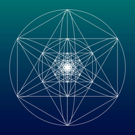 golden ratio: Sacred geometry symbol or element. Alchemy, religion, philosophy, astrology and spirituality themes