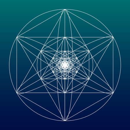 nombre d or: symbole de la géométrie sacrée ou élément. Alchemy, la religion, la philosophie, l'astrologie et spiritualité thèmes