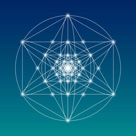 Heilige Geometrie Symbol oder Element. Alchemie, Religion, Philosophie, Astrologie und Spiritualität Themen