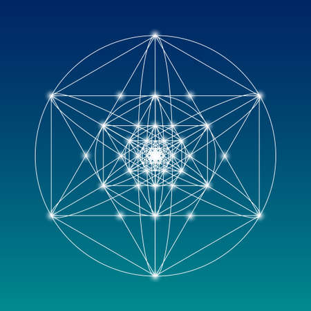 Sacred geometry symbol or element. Alchemy, religion, philosophy, astrology and spirituality themes