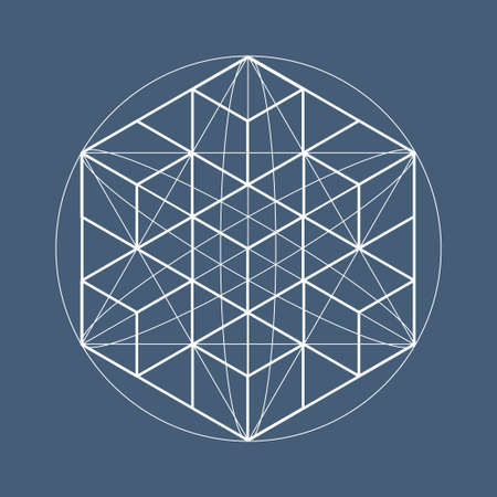 Sacred geometry symbols and elements. Alchemy, religion, philosophy, astrology and spirituality themes Illustration