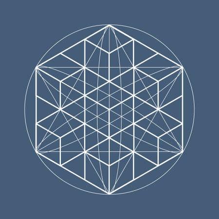 geometría: Sagrado símbolos geométricos y elementos. Alchemy, religión, filosofía, astrología y espiritualidad temas