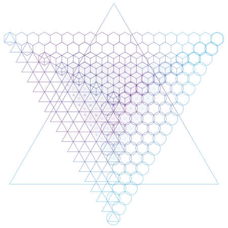 golden ratio: Sacred geometry symbols and elements background. Alchemy, religion, philosophy, astrology and spirituality themes
