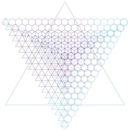 nombre d or: symboles de la g�om�trie sacr�e et les �l�ments de fond. Alchemy, la religion, la philosophie, l'astrologie et spiritualit� th�mes Illustration