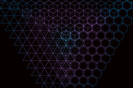 Sacred geometry symbols and elements background. Alchemy, religion, philosophy, astrology and spirituality themes