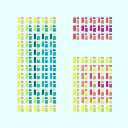 sill: Modern abstract colorful window vector illustration template.