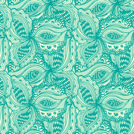 gaudi: Wallpaper seamless pattern with abstract floral element for decorative design.