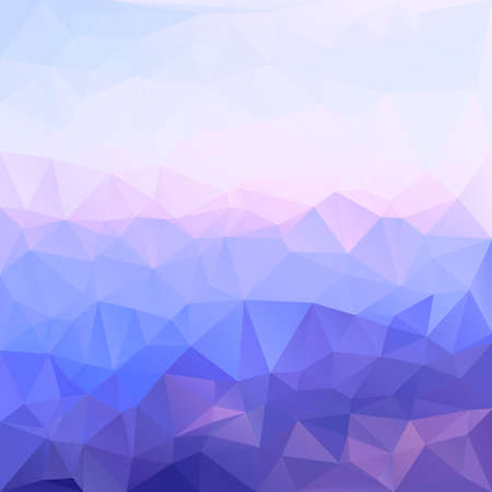 crystal background: Polygonal mosaic abstract geometry background landscape in blue, violet and pink colors. Used for creative design templates Illustration