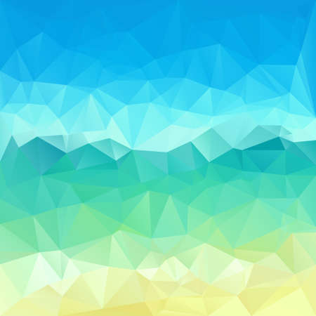 mosaic background: Polygonal mosaic abstract geometry background landscape in blue and green colors.  Used for creative design templates
