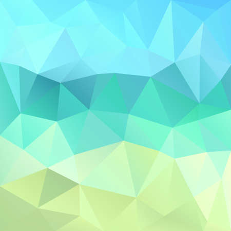 displacement: Polygonal mosaic abstract geometry background landscape in blue and green colors. Used for creative design templates Illustration