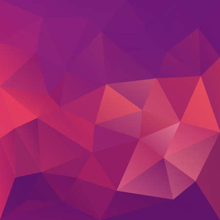 Polygonal mosaic abstract geometry background landscape in violet, magenta and pink colors. Used for creative design templates