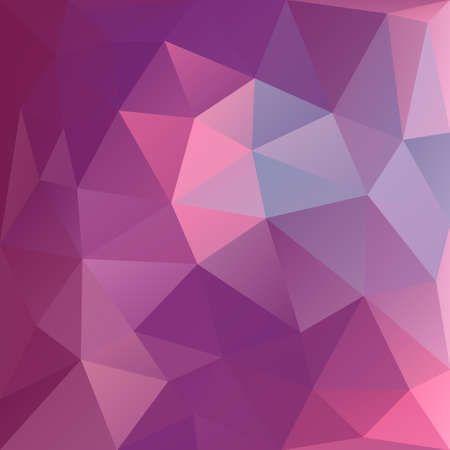 Polygonal mosaic background in magenta and pink colors. Used for creative design templates